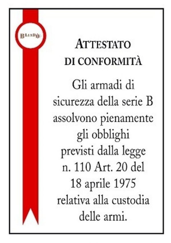 B250 10 Posti Armadio Blindato